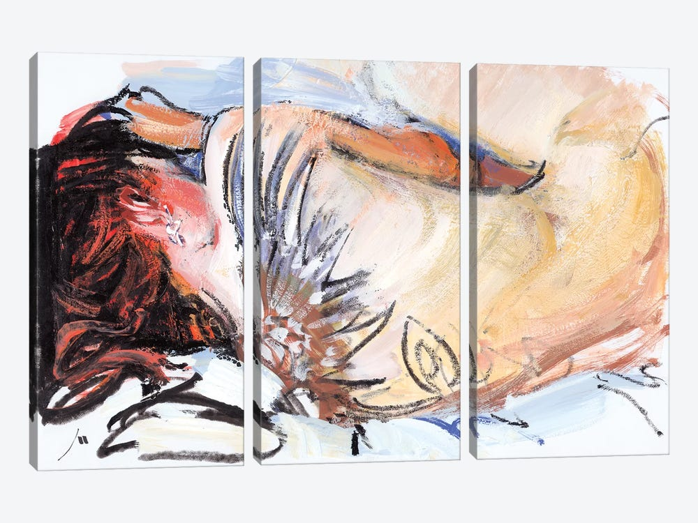 Sleeping by Evgeniy Monahov 3-piece Canvas Print