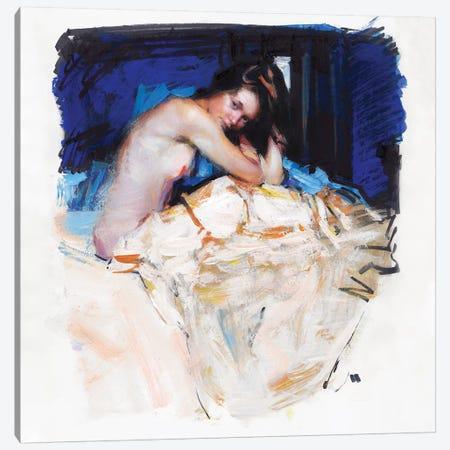 Sleepy Girl Canvas Print #EVG23} by Evgeniy Monahov Art Print