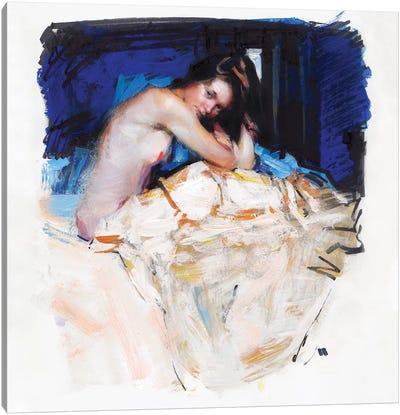 Sleepy Girl Canvas Art Print