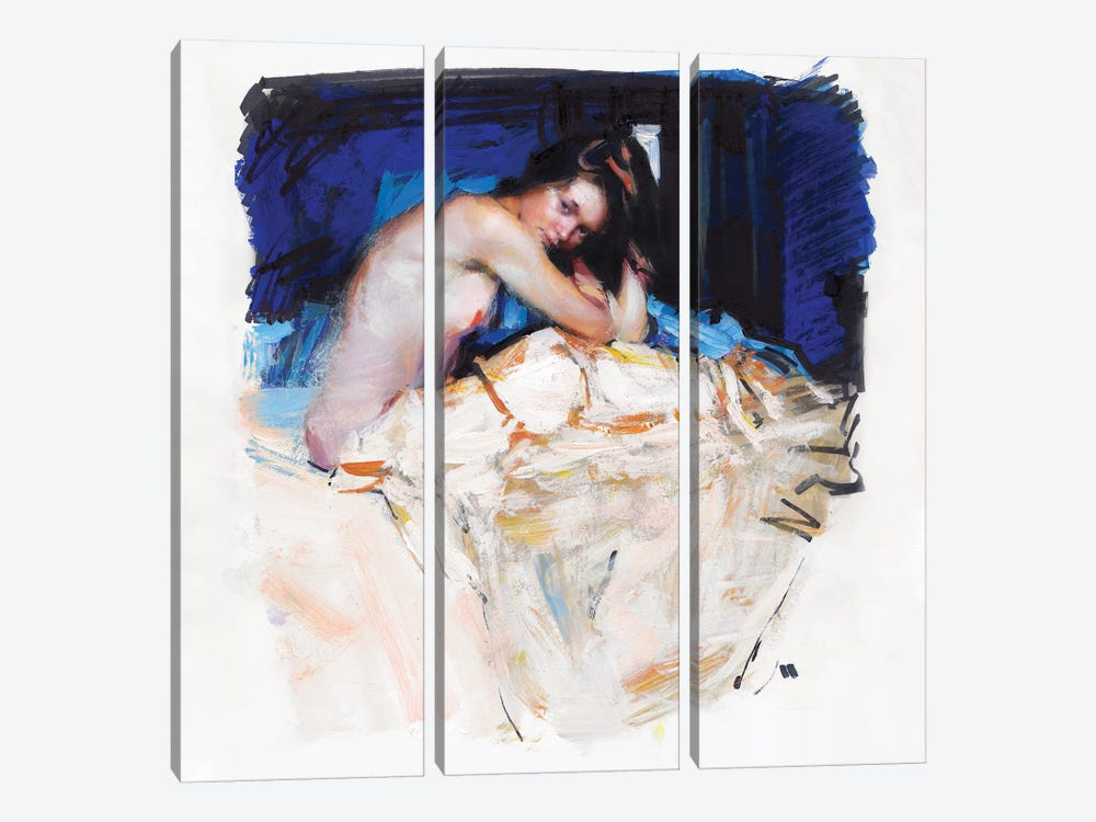 Sleepy Girl by Evgeniy Monahov 3-piece Canvas Artwork