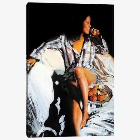 Tangerine Girl Canvas Print #EVG26} by Evgeniy Monahov Canvas Wall Art