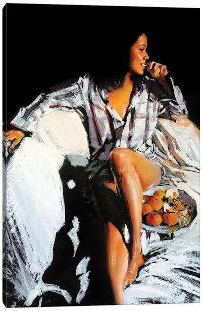 Tangerine Girl Canvas Art Print