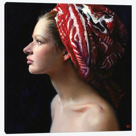 Wet Hair Canvas Print #EVG35} by Evgeniy Monahov Canvas Art Print