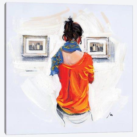 Bright Girl And Monochrome Of Morandi Canvas Print #EVG3} by Evgeniy Monahov Canvas Artwork