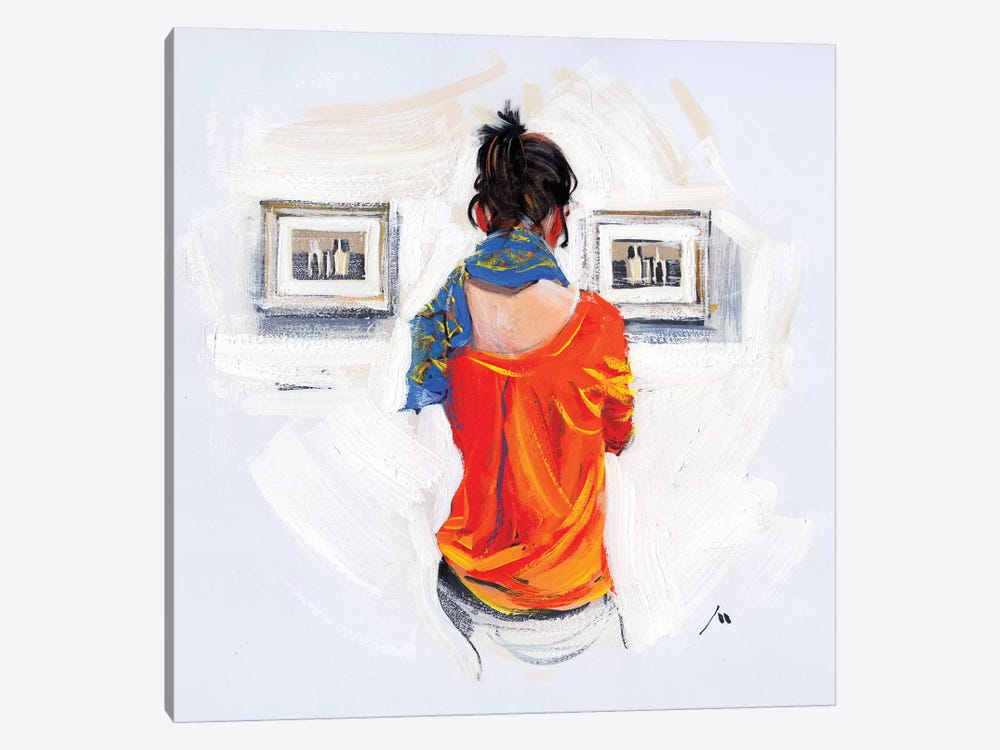 Bright Girl And Monochrome Of Morandi by Evgeniy Monahov 1-piece Canvas Artwork