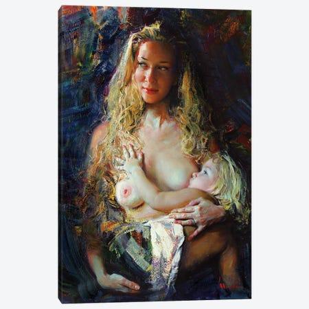 Two Blondes Canvas Print #EVG40} by Evgeniy Monahov Art Print