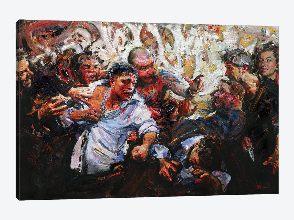 Fighting Without A Cause by Evgeniy Monahov 1-piece Canvas Art