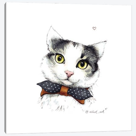 Cutie Canvas Print #EVK12} by Evgeniya Kartavaya Canvas Artwork