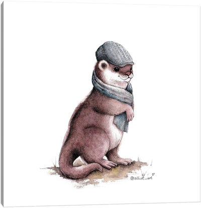 Elegant Otter Canvas Art Print