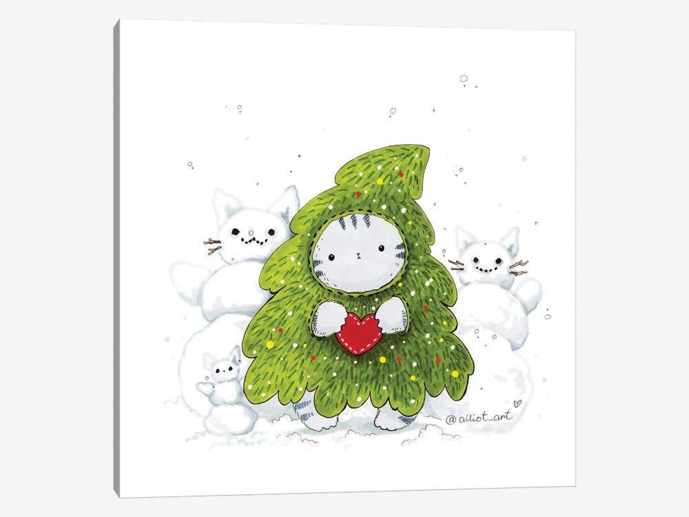 Mr. Pie: Christmas Tre by Evgeniya Kartavaya 1-piece Art Print