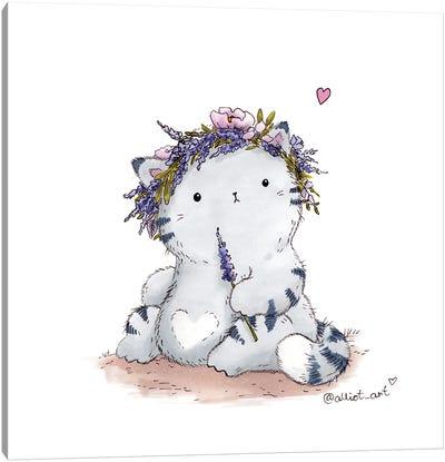 Mr. Pie: Lavender Wreath Canvas Art Print