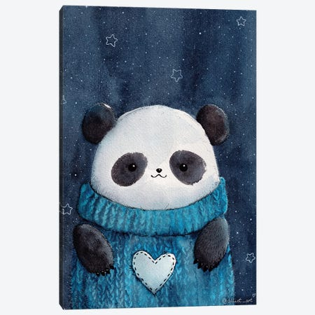 Baby Panda Canvas Print #EVK2} by Evgeniya Kartavaya Canvas Wall Art