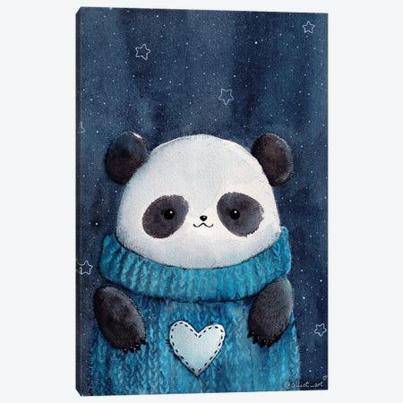 Baby Panda Canvas Print #EVK2} by Evgeniya Kartavaya Canvas Wall Art