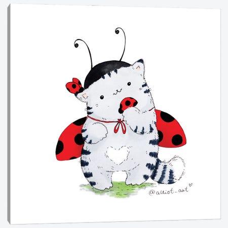 Mr. Pie: Ladybug Canvas Print #EVK36} by Evgeniya Kartavaya Canvas Art Print