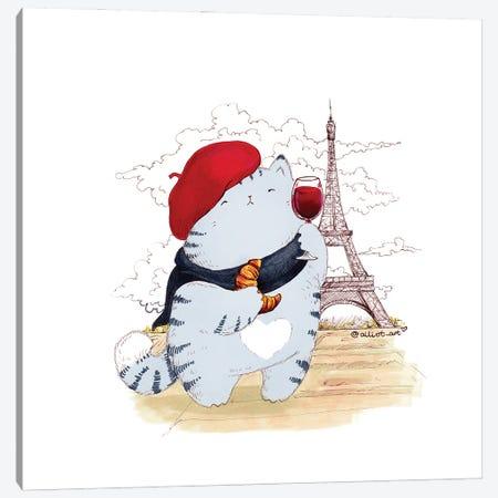 Mr. Pie: Paris Canvas Print #EVK38} by Evgeniya Kartavaya Canvas Artwork