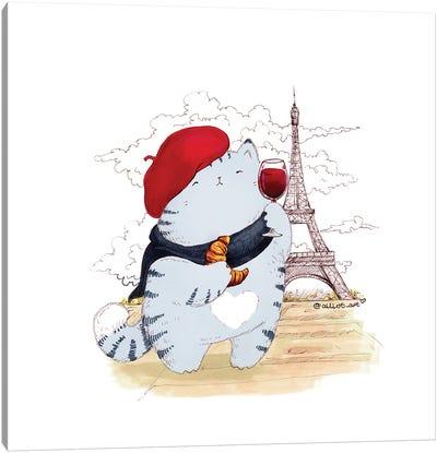 Mr. Pie: Paris Canvas Art Print