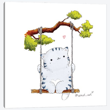 Mr. Pie: Summer Joys Canvas Print #EVK40} by Evgeniya Kartavaya Canvas Art Print