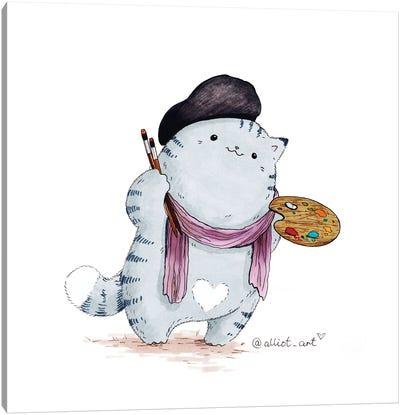 Mr. Pie:. Artist Canvas Art Print