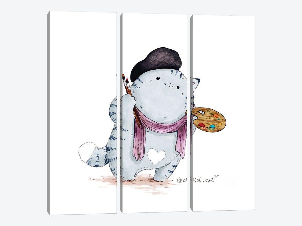 Mr. Pie:. Artist by Evgeniya Kartavaya 3-piece Canvas Artwork