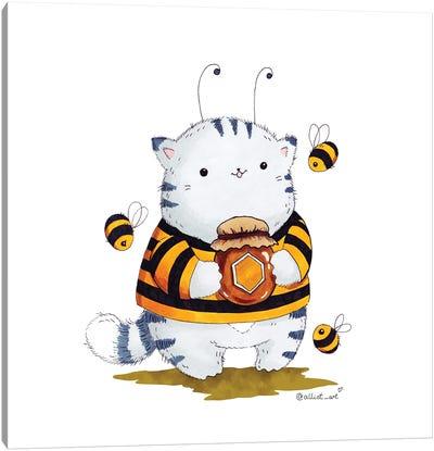 Mr. Pie: Bee Canvas Art Print