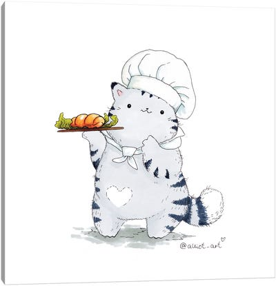 Mr. Pie: Chef Canvas Art Print