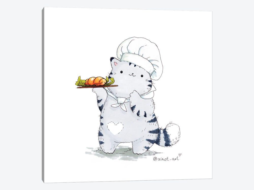 Mr. Pie: Chef by Evgeniya Kartavaya 1-piece Canvas Art