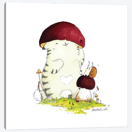 Mr. Pie: Hat Canvas Print #EVK44} by Evgeniya Kartavaya Canvas Artwork