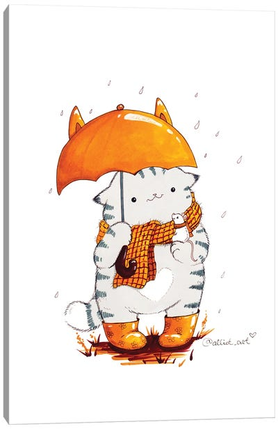 Mr. Pie: Umbrella Canvas Art Print