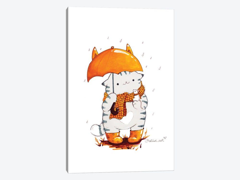 Mr. Pie: Umbrella by Evgeniya Kartavaya 1-piece Canvas Art Print