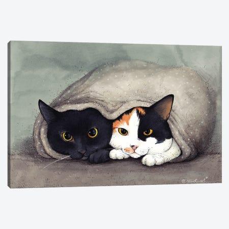 Warm Blanket Canvas Print #EVK59} by Evgeniya Kartavaya Canvas Artwork