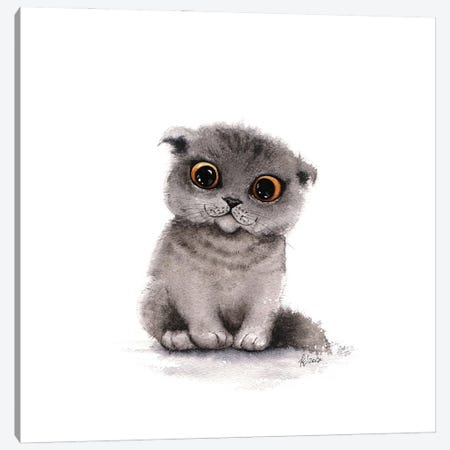 Big Eyes Canvas Print #EVK5} by Evgeniya Kartavaya Canvas Print