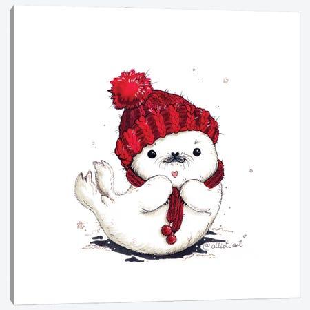 Warm Hat Canvas Print #EVK60} by Evgeniya Kartavaya Art Print