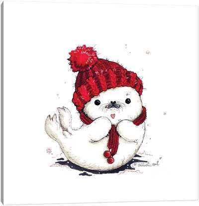 Warm Hat Canvas Art Print