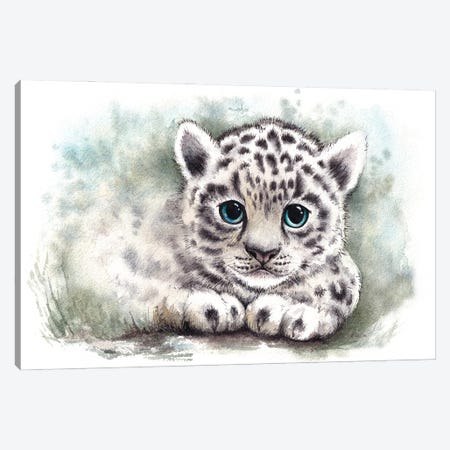 Wild Kitten Canvas Print #EVK65} by Evgeniya Kartavaya Canvas Wall Art