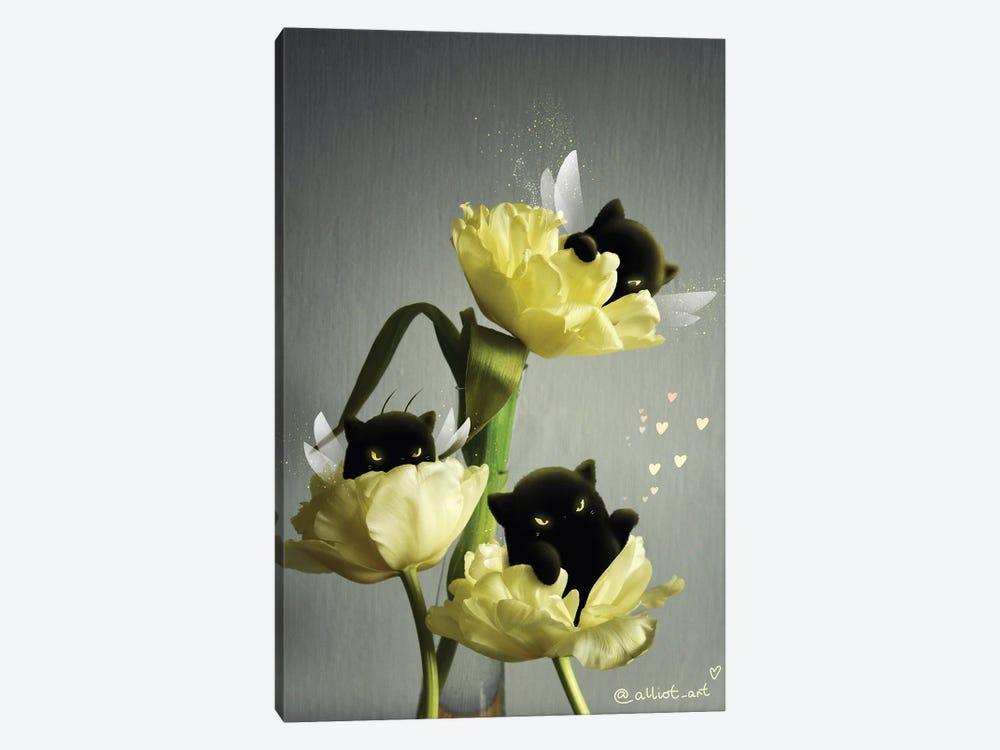 Yellow Tulips by Evgeniya Kartavaya 1-piece Canvas Art