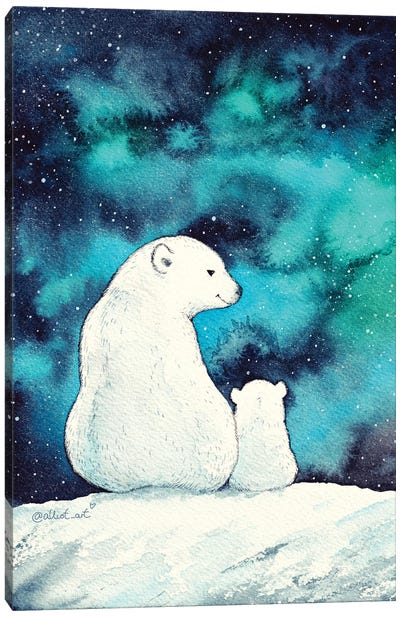 White Bears Canvas Art Print
