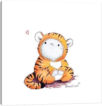 I'm A Tiger, Not A Kitten Canvas Art Print