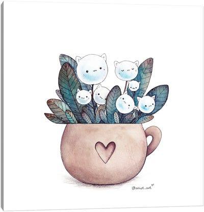 Cat Bouquet Canvas Art Print
