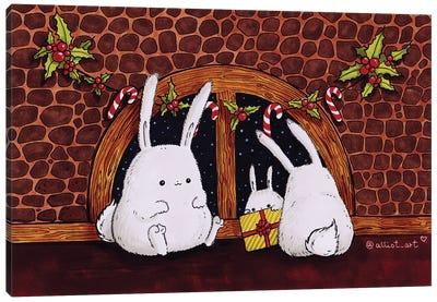 Christmas Bunnies Canvas Art Print