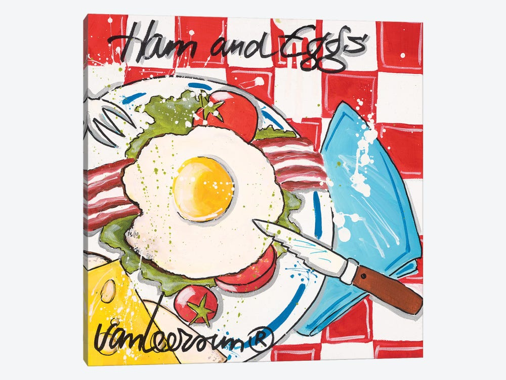 Ham & Eggs by El van Leersum 1-piece Canvas Print