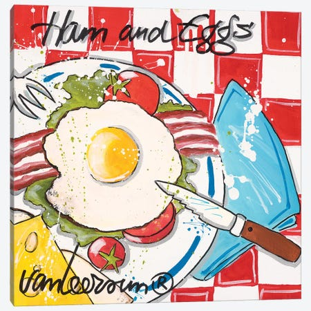 Ham & Eggs Canvas Print #EVL1} by El van Leersum Canvas Art Print
