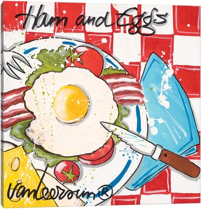 Ham & Eggs Canvas Art Print