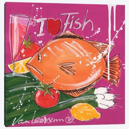 I Love Fish Canvas Print #EVL2} by El van Leersum Canvas Art Print