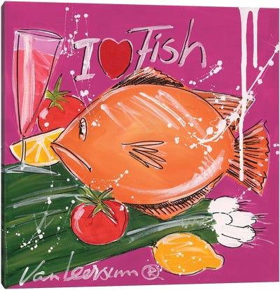 I Love Fish Canvas Art Print