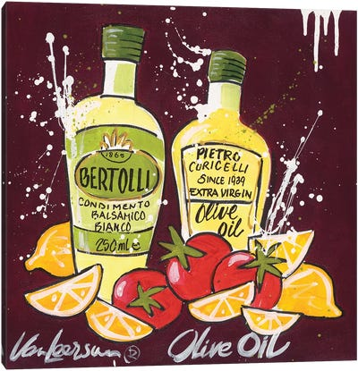 Olive Oil Canvas Art Print