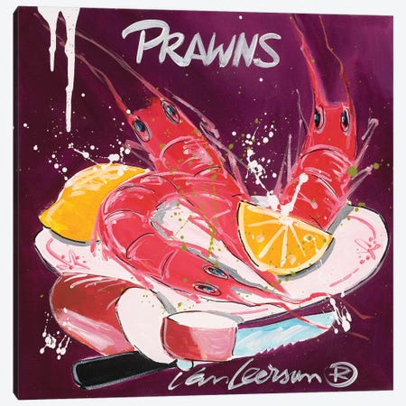 Prawns Canvas Print #EVL5} by El van Leersum Canvas Artwork