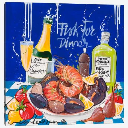 Fish For Dinner Canvas Print #EVL6} by El van Leersum Canvas Wall Art