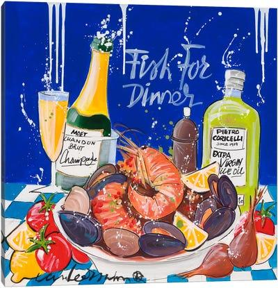 Fish For Dinner Canvas Art Print