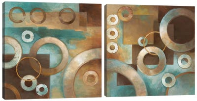 Circular Motion Diptych Canvas Art Print