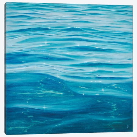 Tranquil Waters Canvas Print #EVV8} by Eva Volf Canvas Wall Art